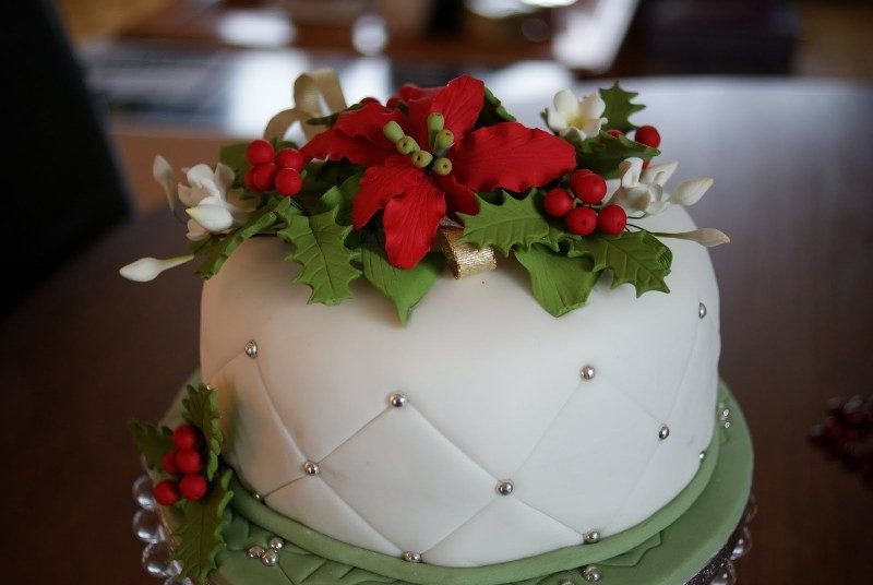 Christmas-Cake-Decoration-Ideas-2017-38 82+ Mouthwatering Christmas Cake Decoration Ideas 2019