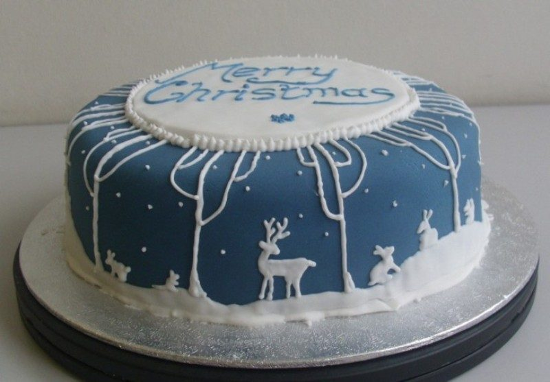 Christmas-Cake-Decoration-Ideas-2017-46 82+ Mouthwatering Christmas Cake Decoration Ideas 2019