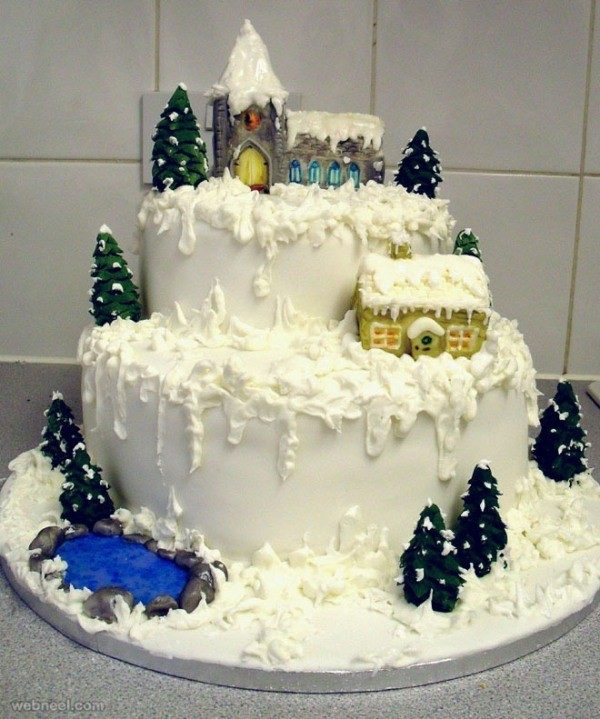 Christmas-Cake-Decoration-Ideas-2017-5 82+ Mouthwatering Christmas Cake Decoration Ideas 2019