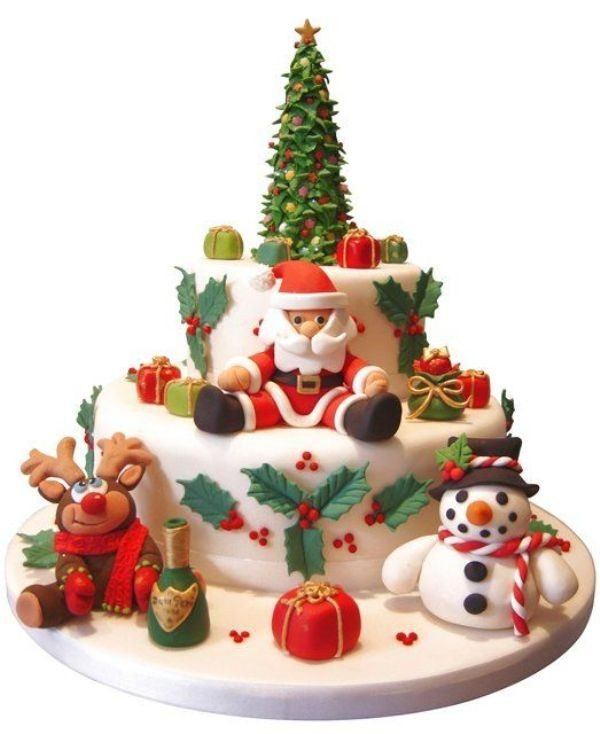 Christmas-Cake-Decoration-Ideas-2017-63 82+ Mouthwatering Christmas Cake Decoration Ideas 2019