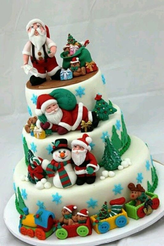 Christmas-Cake-Decoration-Ideas-2017-8 82+ Mouthwatering Christmas Cake Decoration Ideas 2019