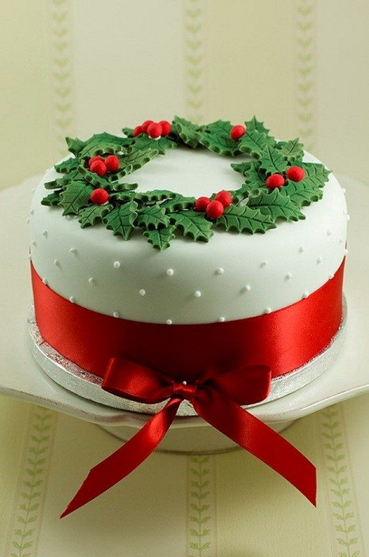 Christmas-Cake-Decoration-Ideas-2017-9 82+ Mouthwatering Christmas Cake Decoration Ideas 2019