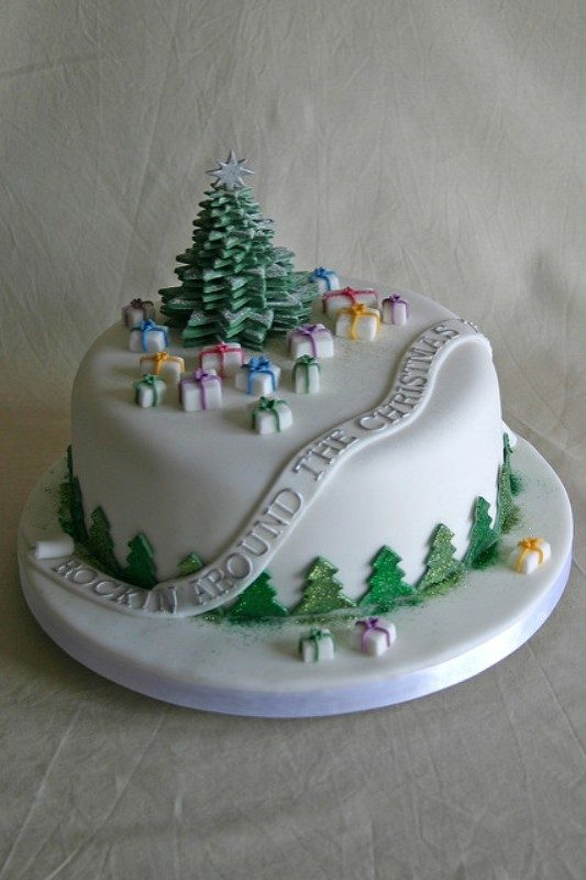 Christmas-Cake-Decoration-Ideas-2017 82+ Mouthwatering Christmas Cake Decoration Ideas 2019