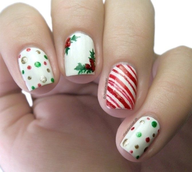 Christmas-Nail-Art-Design-Ideas-2017-10 88 Awesome Christmas Nail Art Design Ideas 2018/2019