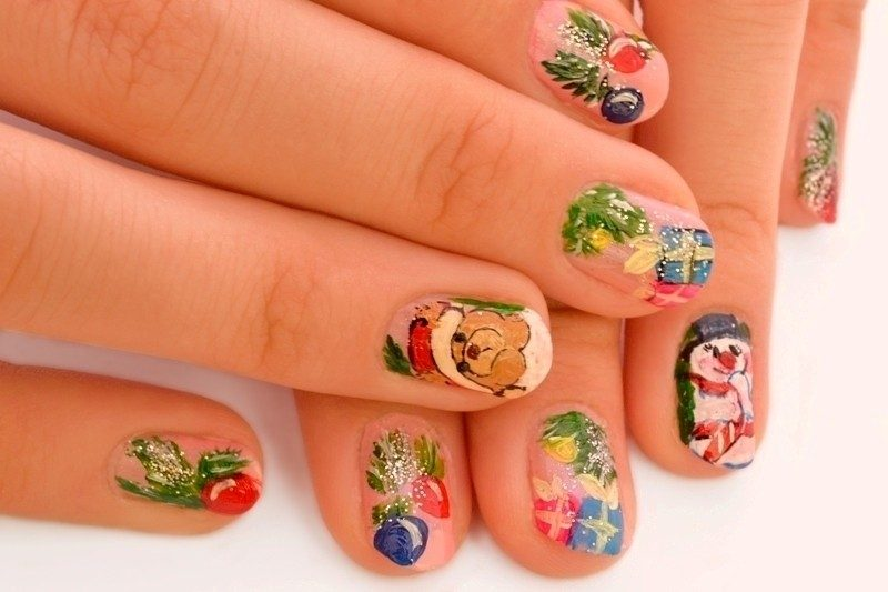 Christmas-Nail-Art-Design-Ideas-2017-12 88 Awesome Christmas Nail Art Design Ideas 2018/2019