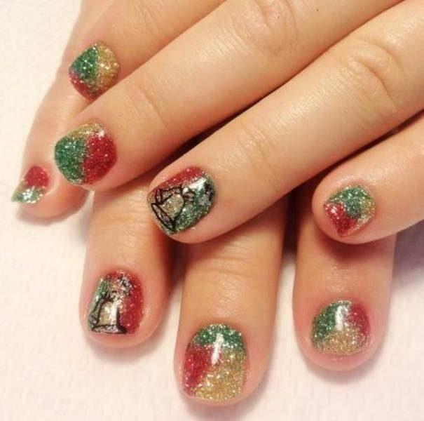 Christmas-Nail-Art-Design-Ideas-2017-15 88+ Hottest Christmas Nail Art Design Ideas 2020