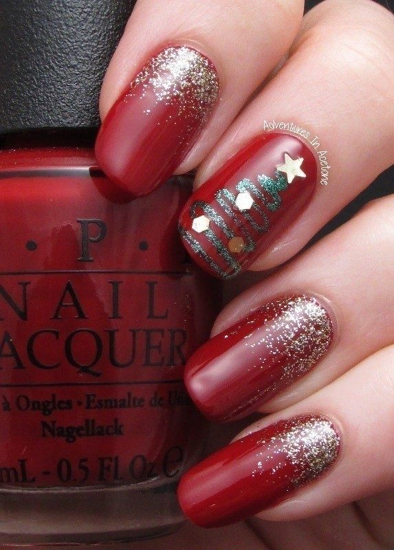 Christmas-Nail-Art-Design-Ideas-2017-19 88 Awesome Christmas Nail Art Design Ideas 2018/2019