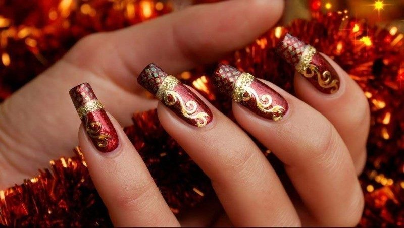 Christmas-Nail-Art-Design-Ideas-2017-27 88 Awesome Christmas Nail Art Design Ideas 2017