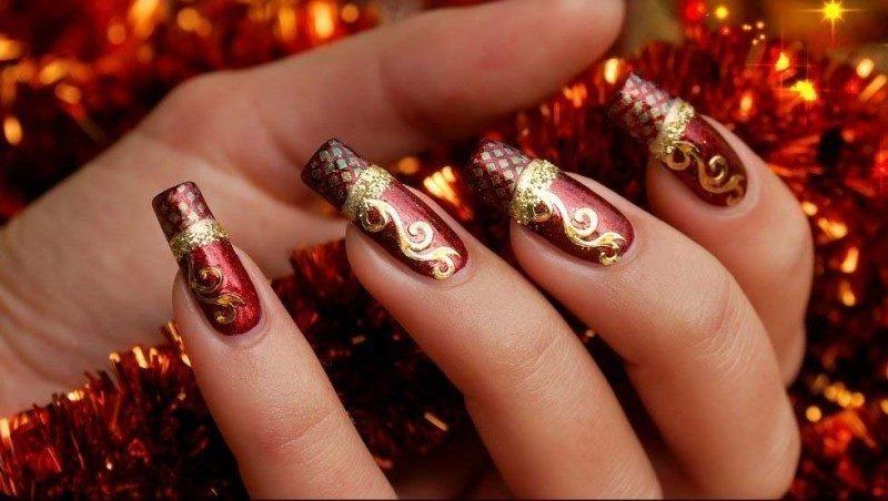 Christmas-Nail-Art-Design-Ideas-2017-27 88+ Hottest Christmas Nail Art Design Ideas 2020