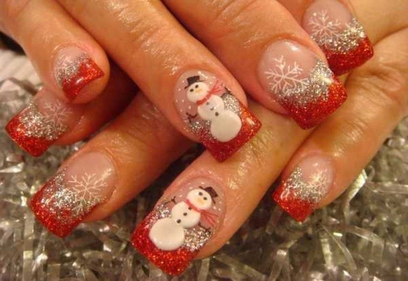 Christmas-Nail-Art-Design-Ideas-2017-32 88 Awesome Christmas Nail Art Design Ideas 2017