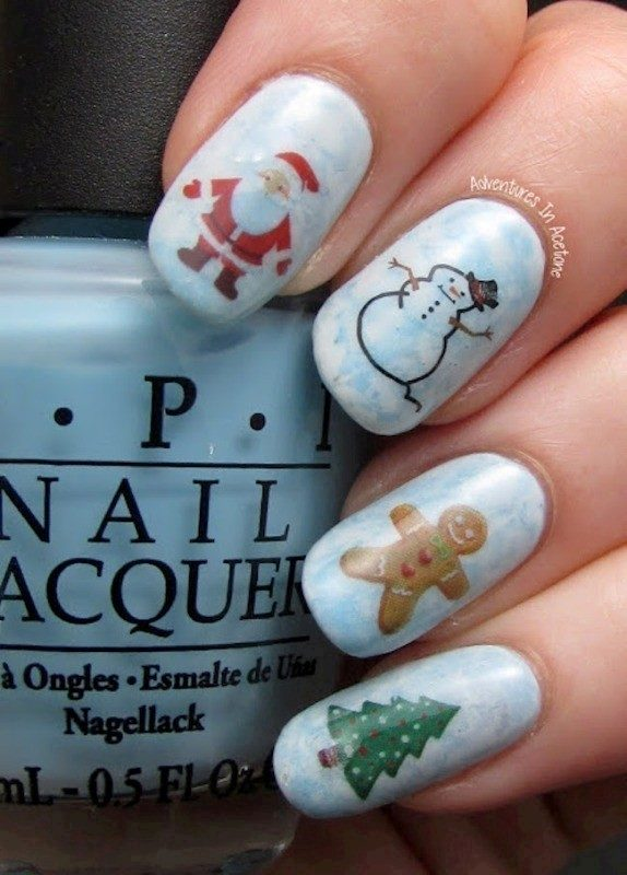 Christmas-Nail-Art-Design-Ideas-2017-33 88 Awesome Christmas Nail Art Design Ideas 2017