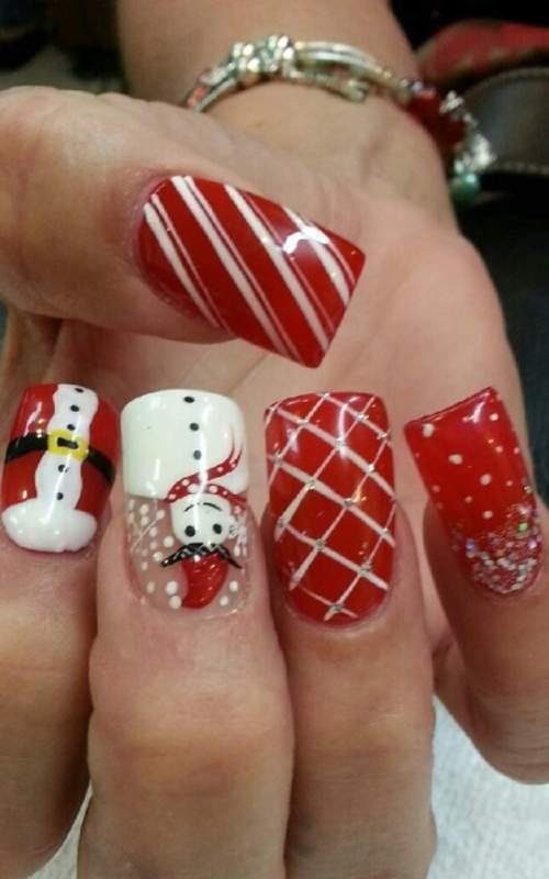 Christmas-Nail-Art-Design-Ideas-2017-35 88+ Hottest Christmas Nail Art Design Ideas 2020