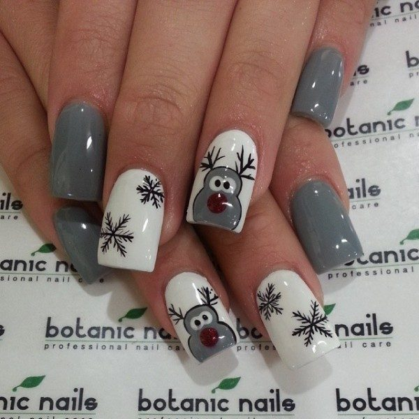 Christmas-Nail-Art-Design-Ideas-2017-50 88 Awesome Christmas Nail Art Design Ideas 2018/2019