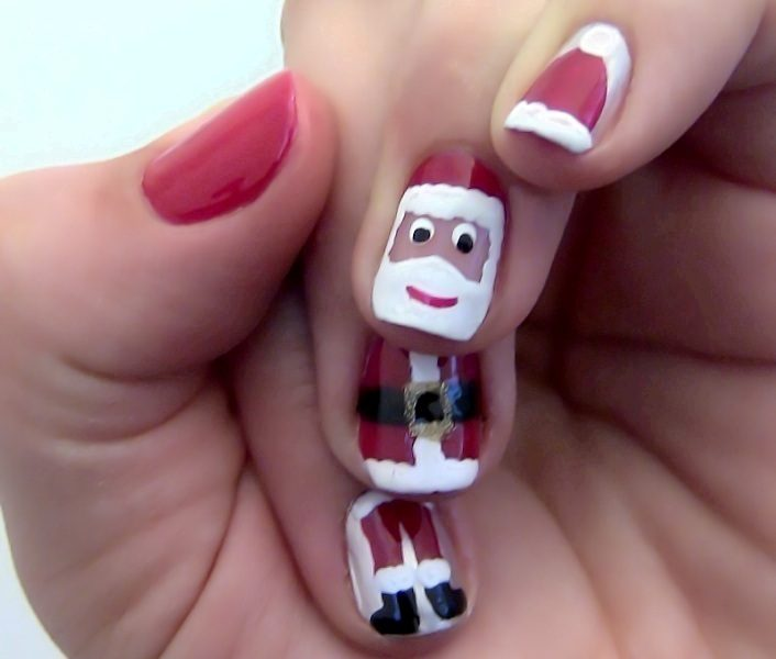 Christmas-Nail-Art-Design-Ideas-2017-55 88 Awesome Christmas Nail Art Design Ideas 2017