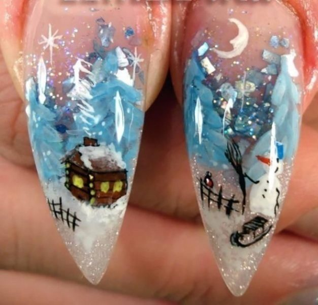 Christmas-Nail-Art-Design-Ideas-2017-61 88 Awesome Christmas Nail Art Design Ideas 2018/2019
