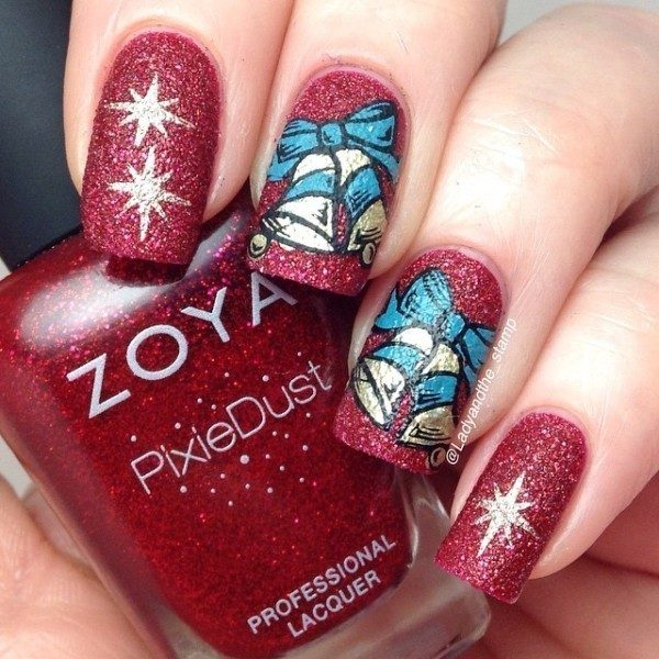 Christmas-Nail-Art-Design-Ideas-2017-62 88 Awesome Christmas Nail Art Design Ideas 2017
