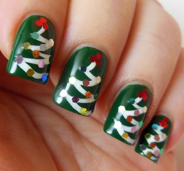 Christmas-Nail-Art-Design-Ideas-2017-64 88 Awesome Christmas Nail Art Design Ideas 2018/2019