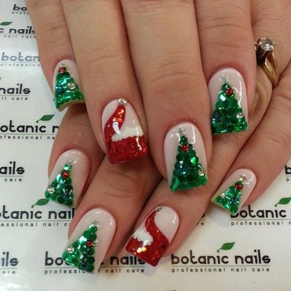 Christmas-Nail-Art-Design-Ideas-2017-67 88 Awesome Christmas Nail Art Design Ideas 2017