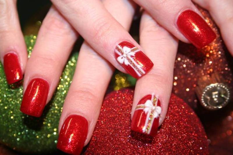 Christmas-Nail-Art-Design-Ideas-2017-68 88 Awesome Christmas Nail Art Design Ideas 2017