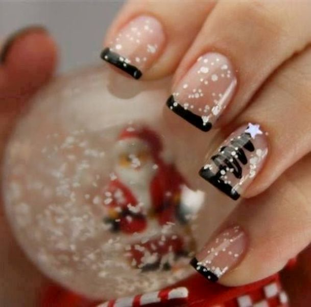 Christmas-Nail-Art-Design-Ideas-2017-71 88 Awesome Christmas Nail Art Design Ideas 2018/2019