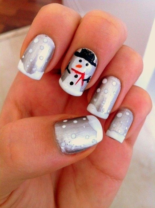 Christmas-Nail-Art-Design-Ideas-2017-78 88 Awesome Christmas Nail Art Design Ideas 2017
