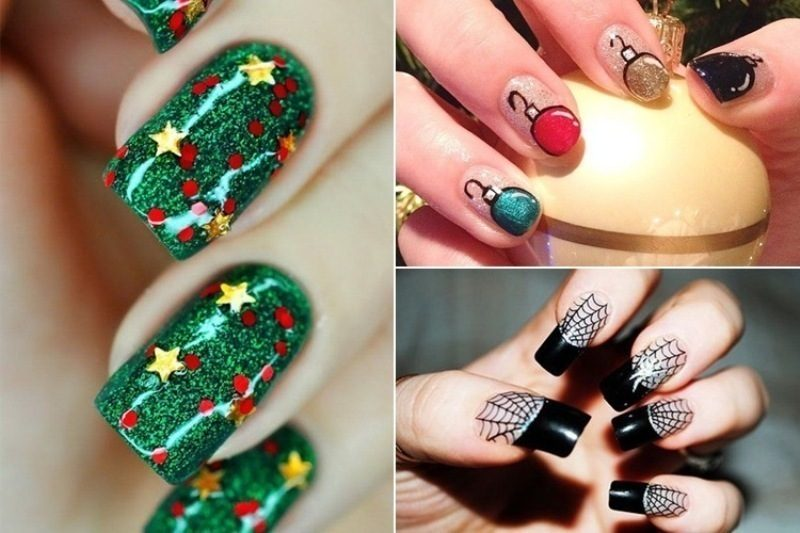Christmas-Nail-Art-Design-Ideas-2017-83 88 Awesome Christmas Nail Art Design Ideas 2017
