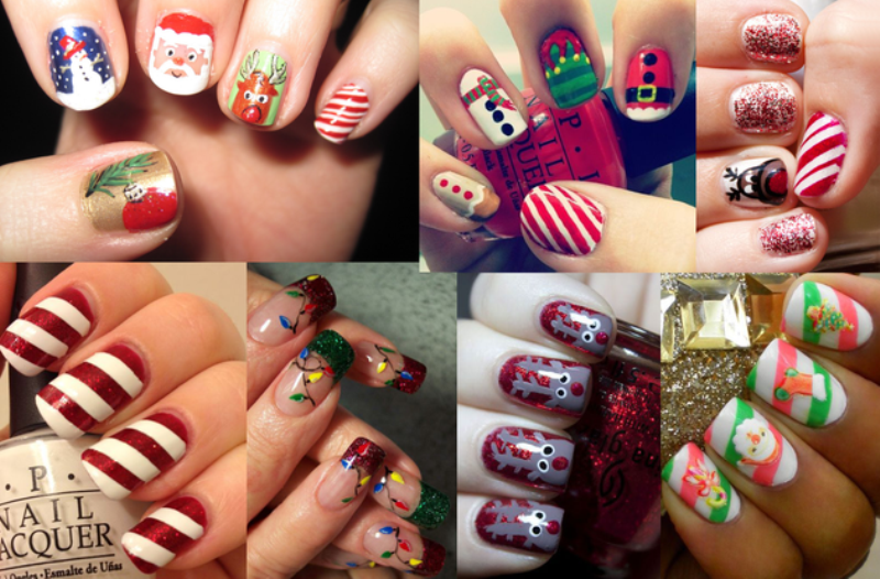 Christmas-Nail-Art-Design-Ideas-2017-84 88 Awesome Christmas Nail Art Design Ideas 2017