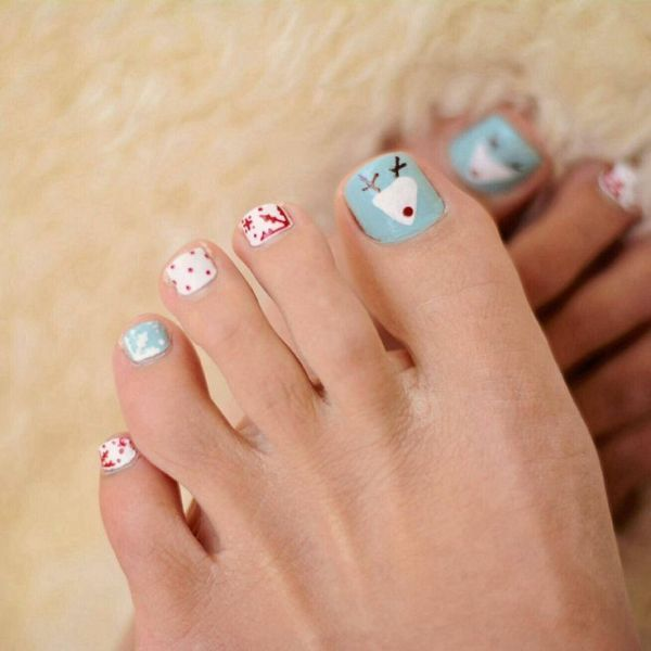 Christmas-Toenail-Art-Design-Ideas-2017-15 45+ Lovely Christmas Toenail Art Design Ideas
