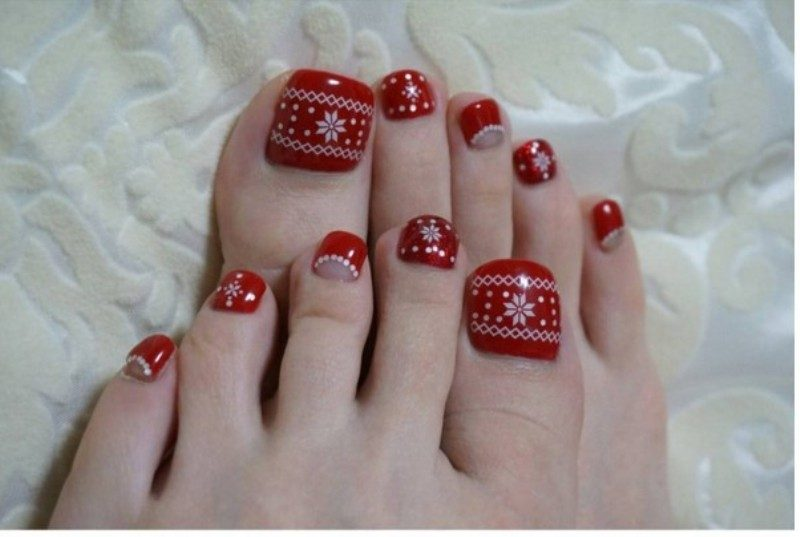 Christmas-Toenail-Art-Design-Ideas-2017-33 45+ Lovely Christmas Toenail Art Design Ideas