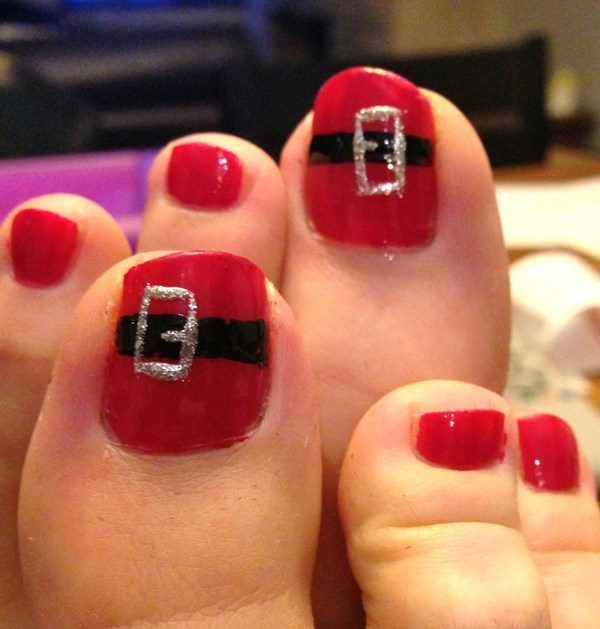 Christmas-Toenail-Art-Design-Ideas-2017-37 45+ Lovely Christmas Toenail Art Design Ideas