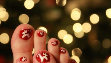 Photo of 45+ Lovely Christmas Toenail Art Design Ideas