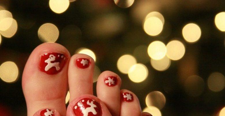 Photo of 45+ Lovely Christmas Toenail Art Design Ideas