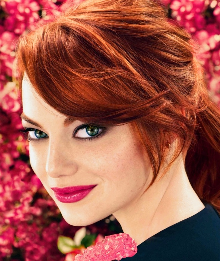 Emma-Stone-Winter-Hair-Colors-2016 Sexiest Prom Hairstyles for Short Hairs