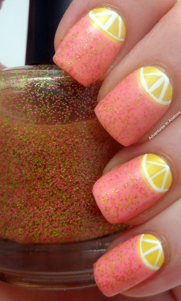 Half-Moon-Nail-Art-35 50+ Coolest Wedding Nail Design Ideas