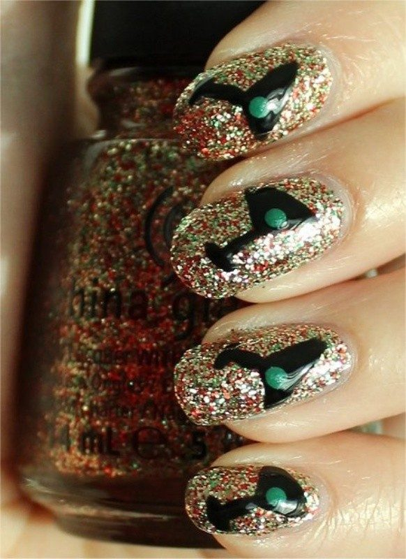 New-Years-Eve-Nail-Art-Design-Ideas-2017-16 89 Astonishing New Year's Eve Nail Design Ideas for Winter 2019