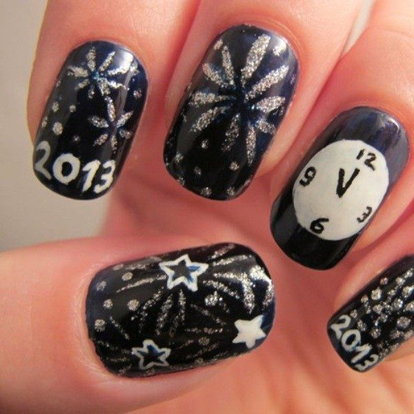 New-Years-Eve-Nail-Art-Design-Ideas-2017-71 89 Astonishing New Year's Eve Nail Design Ideas for Winter 2019