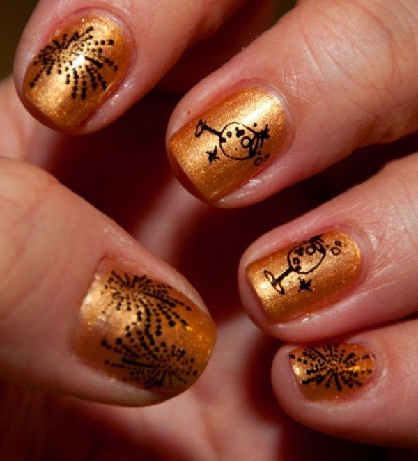 New-Years-Eve-Nail-Art-Design-Ideas-2017-78 89 Astonishing New Year's Eve Nail Design Ideas for Winter 2019