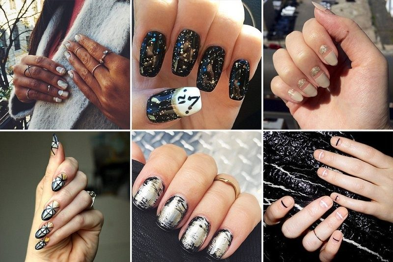 New-Years-Eve-Nail-Art-Design-Ideas-2017-88 89 Astonishing New Year's Eve Nail Design Ideas for Winter 2019
