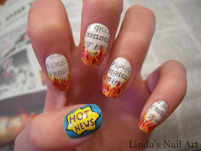 Nieuws 20+ Creative Newspaper Nail Art Design Ideas