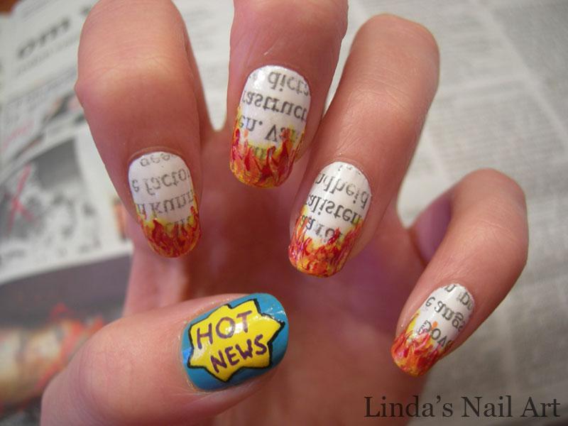 Nieuws 20+ Newspaper Nail Art Ideas & Designs... [Tutorials Videos]