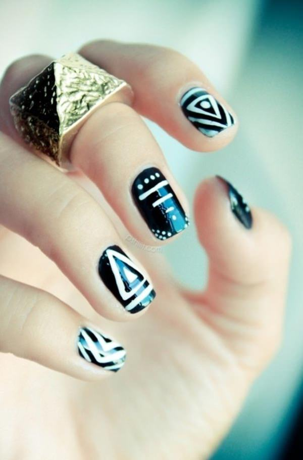 black-and-white-nail-designs-13 50+ Coolest Wedding Nail Design Ideas