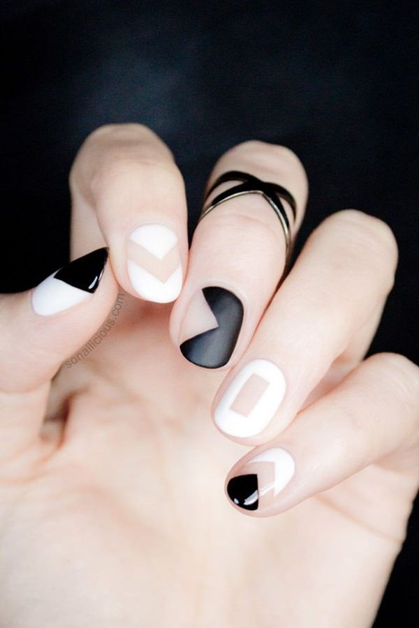 black-and-white-nail-designs 50+ Coolest Wedding Nail Design Ideas