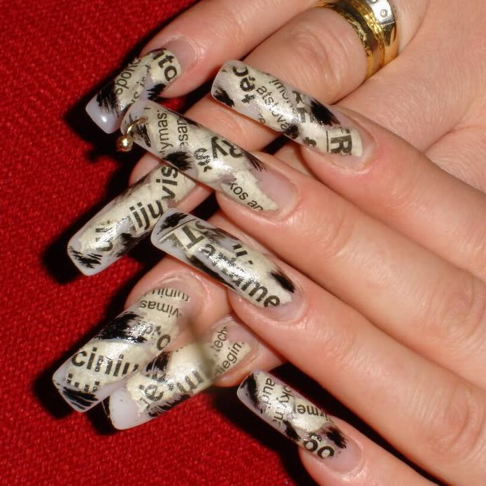 c69c0bc0b0c871d3eb67161db6f3c299 20+ Creative Newspaper Nail Art Design Ideas