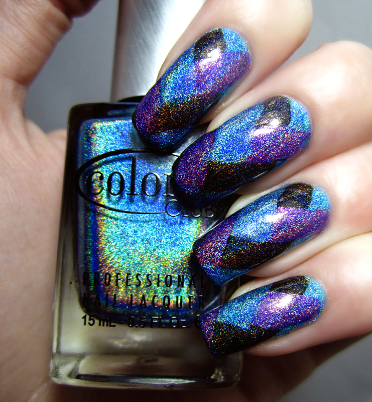 color-club-halo-hues-fishtail-nail-art 50+ Coolest Wedding Nail Design Ideas