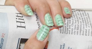 20+ Newspaper Nail Art Ideas & Designs… [Tutorials Videos]