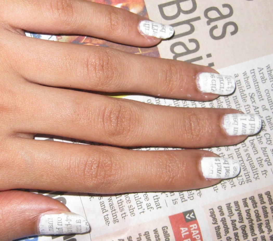 maxresdefault-4 20+ Creative Newspaper Nail Art Design Ideas