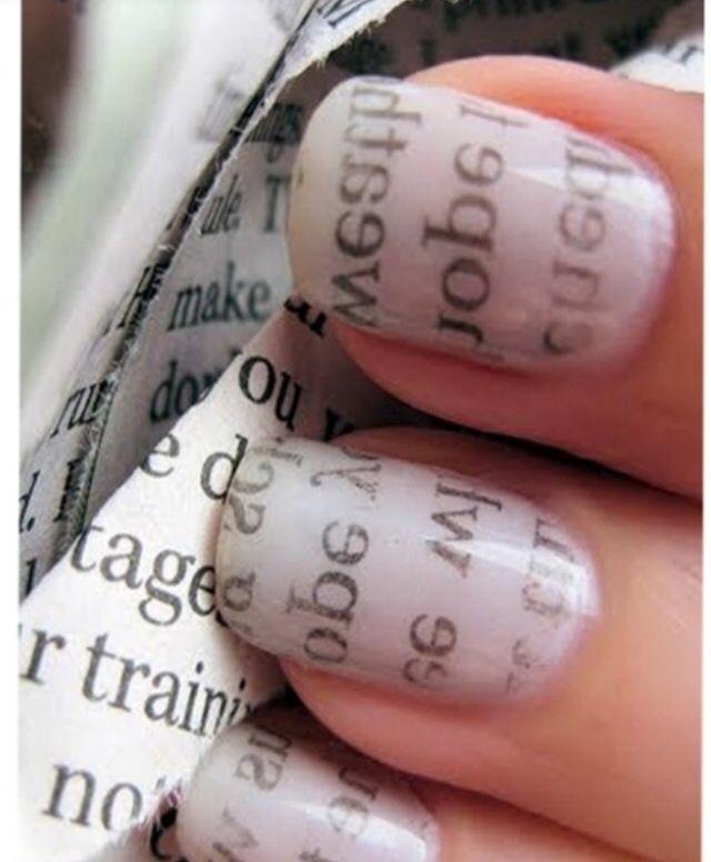 nail 20+ Creative Newspaper Nail Art Design Ideas