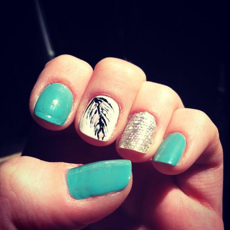 0d4dde35271ebfa70f4f0fe4a49f3289 36 Easiest Feather Nail Art Designs