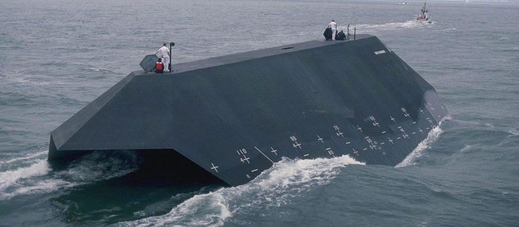 1983-Lockheed-Martin-Sea-Shadow-Sealth-Ship-2 Top 10 Craziest Future Boat Designs