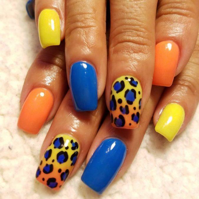 4-3-675x675 6 Most Stylish Leopard and Cheetah Nail Designs